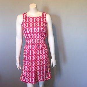 Gretchen Scott Chain Link Pink/Orange Dress